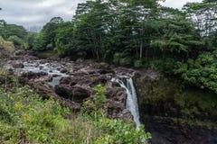 Радуга падает на большой остров Гаваи - взгляда со стороны Стоковое Изображение RF