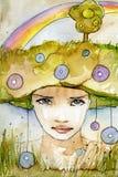 радуга портрета иллюстрация штока