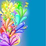 радуга предпосылки флористическая Стоковая Фотография RF