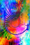 радуга предпосылки Стоковое фото RF