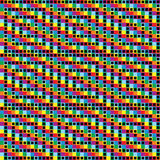 радуга предпосылки checkered Стоковое Изображение RF