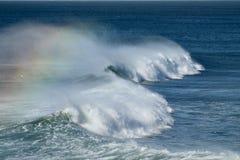 Радуга развевает на ветреный день в южной Калифорнии Стоковое Фото