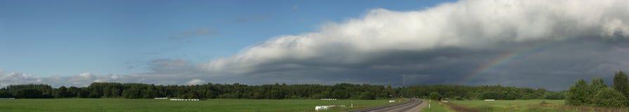 радуга фото панорамы Стоковая Фотография