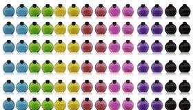 радуга цвета бутылок Стоковое фото RF