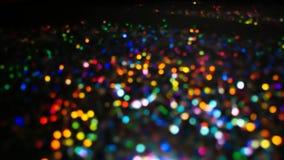 Радуга Bokeh освещает в много различных, ярких, и милых цветов Стоковая Фотография RF