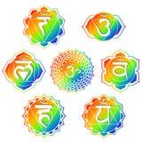радуга chakras Стоковые Изображения