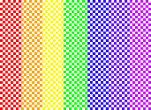 радуга checkerboard Стоковое Изображение RF