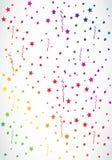 Радуга Confetti Стоковые Изображения