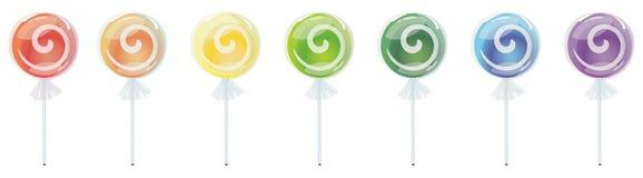 радуга lollipop Стоковое Изображение