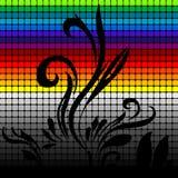 радуга ornamental предпосылки Стоковое Изображение RF