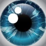 Радужка человеческого глаза, реалистический значок зрачка иллюстрация вектора