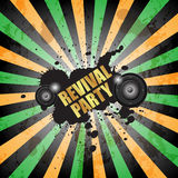 Разбейте flayer партии для события или плаката музыки стоковая фотография rf