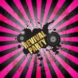 Разбейте flayer партии для события или плаката музыки Стоковые Изображения