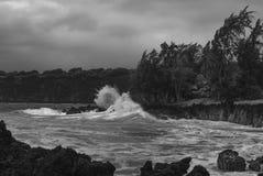 Разбивать развевает на Мауи Стоковые Фотографии RF