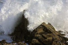 разбивая волны стоковые изображения rf