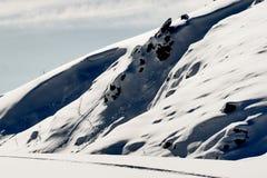 разбивочная лыжа mavrovo македонии Стоковые Изображения RF