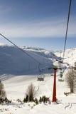 разбивочная лыжа mavrovo македонии Стоковое фото RF