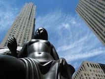 разбивочное новое Рокефеллер york Стоковое Изображение