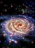 разбивочные галактики Стоковые Фото