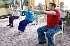 разбивочные обслуживания пенсионеров социальные стоковое фото rf