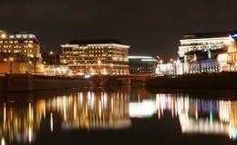 разбивочный взгляд России панорамы ночи moscow Стоковые Фотографии RF