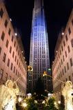 разбивочный город новое Рокефеллер york Стоковые Изображения RF