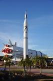 разбивочный космос v saturn ракеты Кеннедай модельный Стоковое фото RF