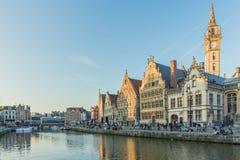 Разбивочный рынок Гента, Бельгии Стоковые Фото
