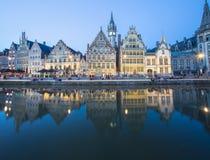 Разбивочный рынок Гента, Бельгии Стоковые Фотографии RF