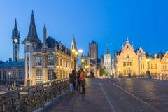 Разбивочный рынок Гента, Бельгии Стоковое Фото