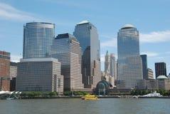 разбивочный финансовохозяйственный мир nyc Стоковое Изображение RF