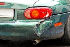 разбили автомобиль бампера, котор Стоковое Изображение RF