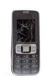 разбили мобильный телефон стоковое фото