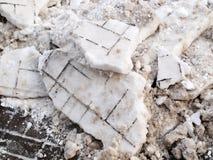 Разбили снежок Стоковая Фотография RF