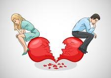 Разбитый сердце и разлад влюбленности Стоковое Фото