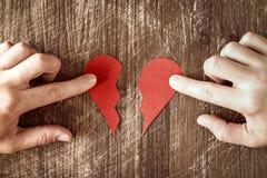 Разбитый сердце идя быть соединенным в одном Стоковое Фото