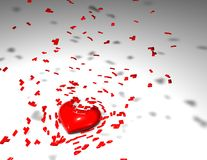 Разбитый сердце, divorcing концепция Стоковые Фотографии RF