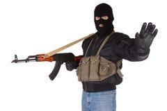 Разбойник с AK 47 стоковое фото rf