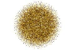 Разбросанная вектором золотая предпосылка белизны Confetti иллюстрация штока