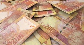 Разбросанная куча банкноты Стоковые Фото