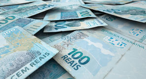 Разбросанная куча банкноты Стоковое фото RF