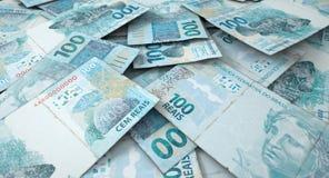 Разбросанная куча банкноты Стоковые Изображения