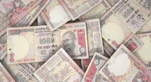 Разбросанная куча банкноты Стоковые Изображения RF