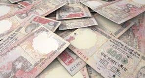 Разбросанная куча банкноты Стоковые Фотографии RF