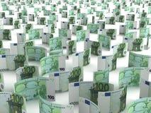 разбросанное евро Стоковые Фотографии RF