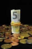 Разбросанные деньги стоковые фотографии rf