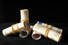 Разбросанные деньги стоковое изображение
