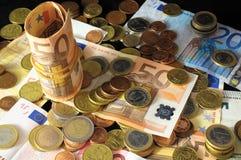 Разбросанные деньги стоковое фото rf