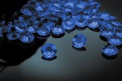 Разбросанные диаманты Стоковые Фотографии RF