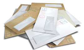 Разбросанные конверты Стоковое фото RF